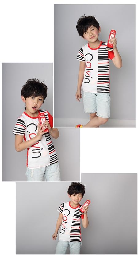 เสื้อแขนสั้ัน Calvin สีแดง (5ตัว/pack)