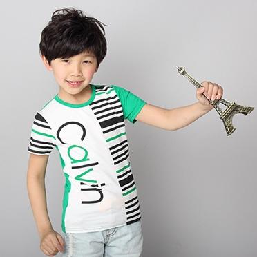 เสื้อแขนสั้ัน Calvin สีเขียว (5ตัว/pack)