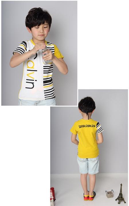 เสื้อแขนสั้ัน Calvin สีเหลือง (5ตัว/pack)