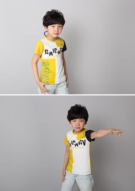 เสื้อแขนสั้ัน Barcode สีเหลือง (5ตัว/pack)