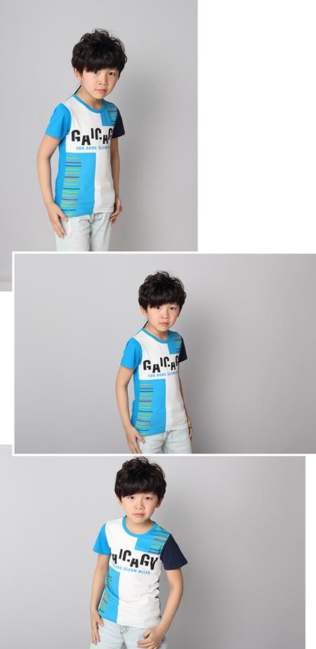 เสื้อแขนสั้ัน Barcode สีฟ้า (5ตัว/pack)