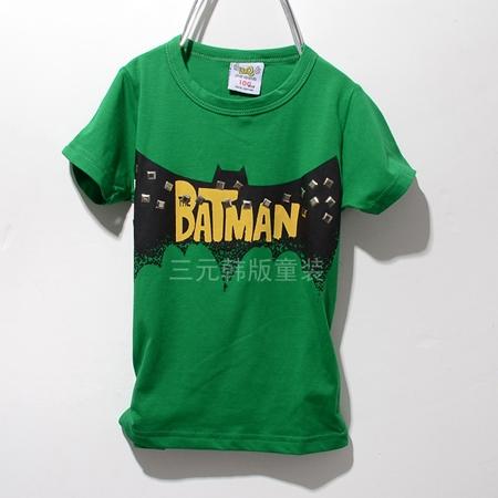 เสื้อแขนสั้ัน Batman Hero สีเขียว (5ตัว/pack)