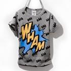 เสื้อแขนสั้ัน-Batman-WHAM-สีเทา-(5ตัว/pack)