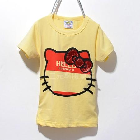 เสื้อแขนสั้ัน Kitty No Face สีเหลือง (5ตัว/pack)