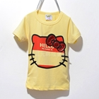 เสื้อแขนสั้ัน-Kitty-No-Face-สีเหลือง-(5ตัว/pack)
