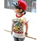 เสื้อยืดแขนสั้น-Head-Rock-ขอบสีแดง-(5size/pack)