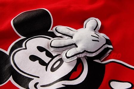 เสื้อแขนสั้ัน Mickey Mouse สีแดง (5ตัว/pack)