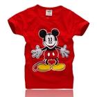 เสื้อแขนสั้ัน-Mickey-Mouse-สีแดง-(5ตัว/pack)