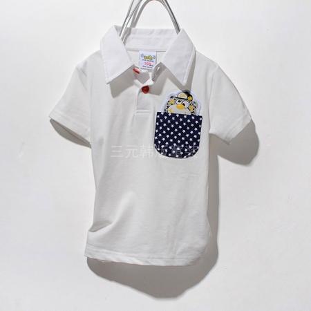 เสื้อโปโลหมีซ่อนแอบ สีขาว (5 ตัว/pack)