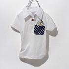 เสื้อโปโลหมีซ่อนแอบ-สีขาว-(5-ตัว/pack)
