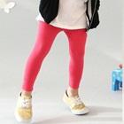 กางเกงเลกกิ้งขายาว-สีชมพูเข้ม-(5size/pack)
