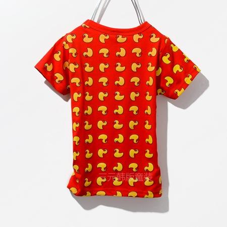 เสื้อแขนสั้ันเป็ดเหลือง สีแดง (5ตัว/pack)