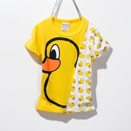 เสื้อแขนสั้ัน Big Duck สีเหลือง (5ตัว/pack)