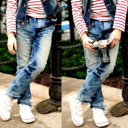 กางเกงยีนส์ขายาว Sport Outfit (4ตัว/pack)