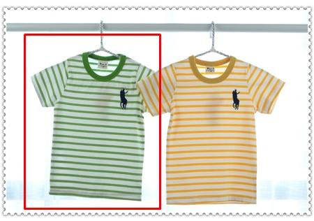 เสื้อแขนสั้ัน Polo Club สีเขียวอ่อน (5ตัว/pack)