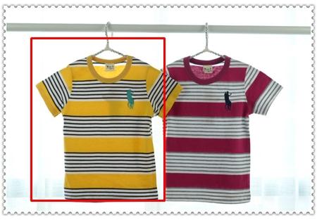เสื้อแขนสั้ัน Polo สีเหลืองดำ (5ตัว/pack)