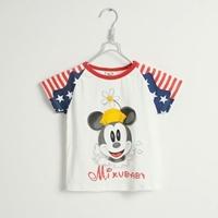 เสื้อยืดแขนสั้น-Micky-Mouse-สีขาว-(5size/pack)