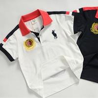 เสื้อโปโลเด็กแขนสั้นยี่ห้อ-POLO-สีขาว-(5size/pack)