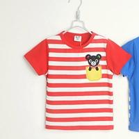 เสื้อยืดแขนสั้นหมีน้อยน่ารัก-สีแดง-(5size/pack)