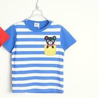 เสื้อยืดแขนสั้นหมีน้อยน่ารัก-สีฟ้า-(5size/pack)