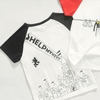 เสื้อยืดแขนสั้น-Help-แขนสีดำ-(5size/pack)