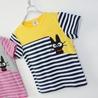 เสื้อยืดแขนสั้นแมวเหมียว-สีเหลืองกรม-(5size/pack)