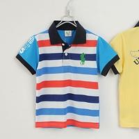 เสื้อโปโลเด็กลายขวาง-POLO-สีฟ้า(5size/pack)