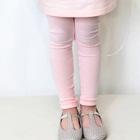 กางเกงเลกกิ้งขายาว-สีชมพูอ่อน-(5size/pack)