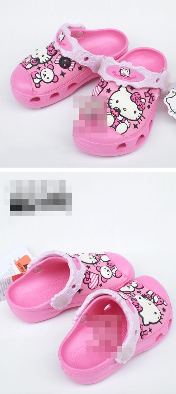 รองเท้าเด็ก Hello Kitty สีแดง (10 คู่/แพ็ค)