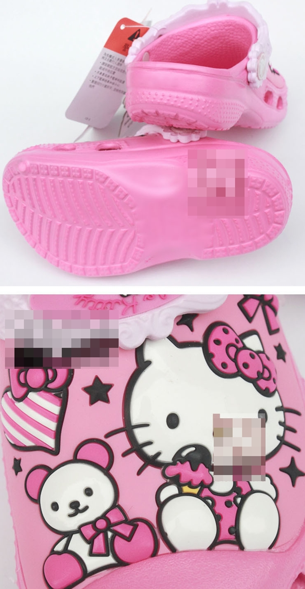 รองเท้าเด็ก Hello Kitty สีบานเย็น (10 คู่/แพ็ค)