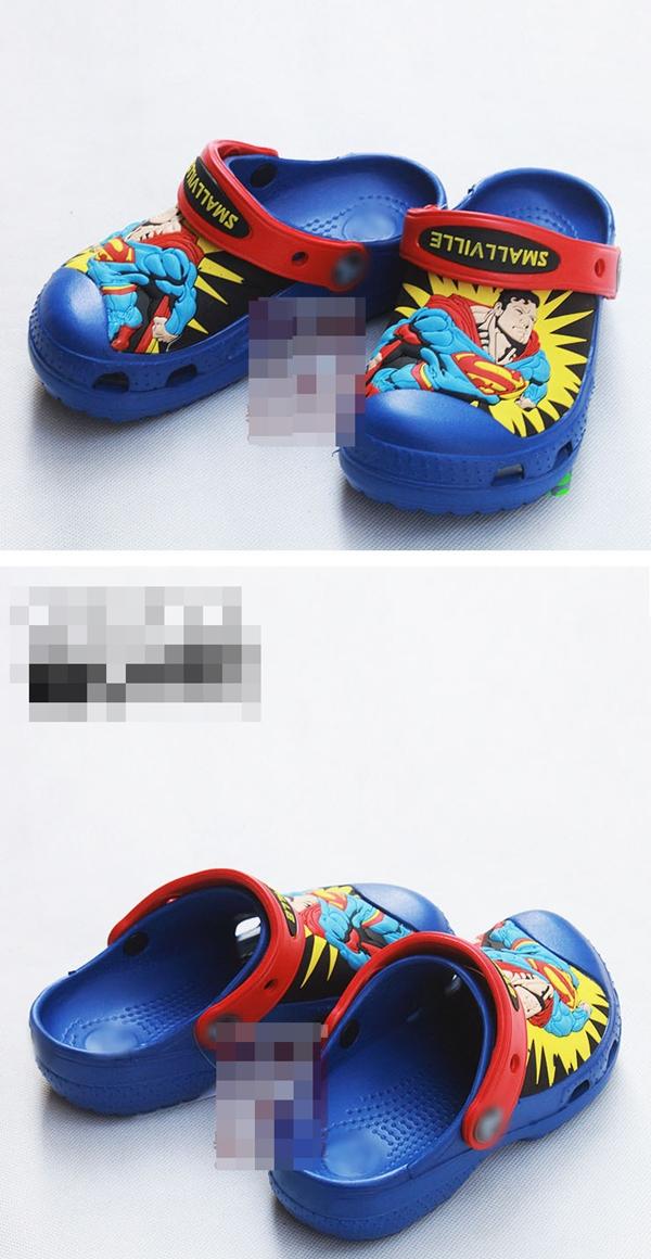 รองเท้าเด็ก Superman สีดำ (10 คู่/แพ็ค)