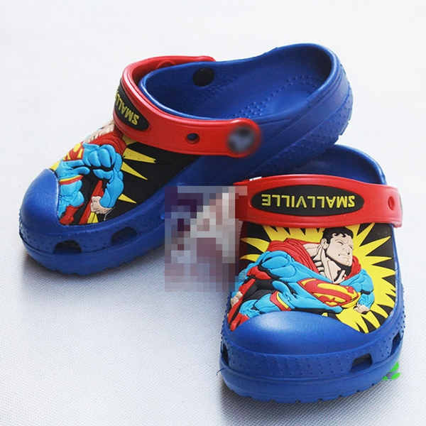 รองเท้าเด็ก Superman สีน้ำเงิน (10 คู่/แพ็ค)