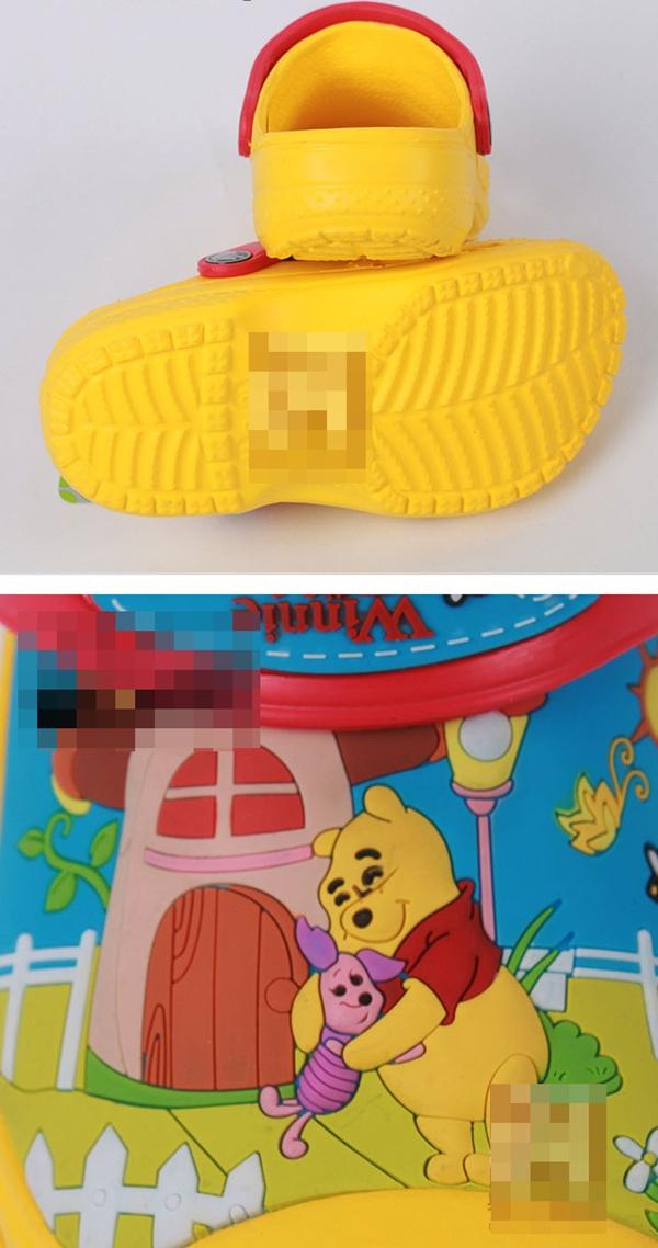 รองเท้าเด็กวินนี่แอนด์พูลล์ สีเหลือง (10 คู่/แพ็ค)
