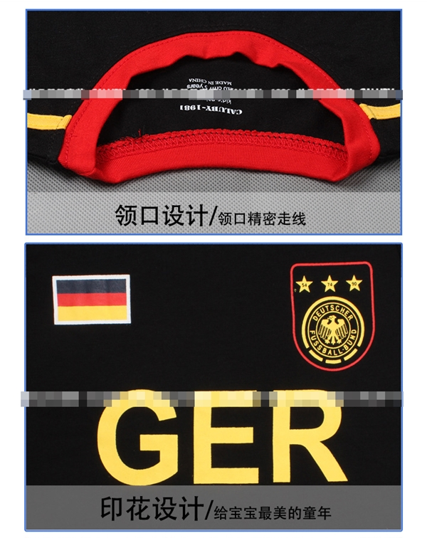 ชุดนอนนักฟุตบอลเยอรมัน สีดำ (6 ตัว/pack)