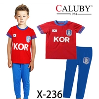 ชุดนอนนักฟุตบอลเกาหลี-สีแดงฟ้า-(6-ตัว/pack)