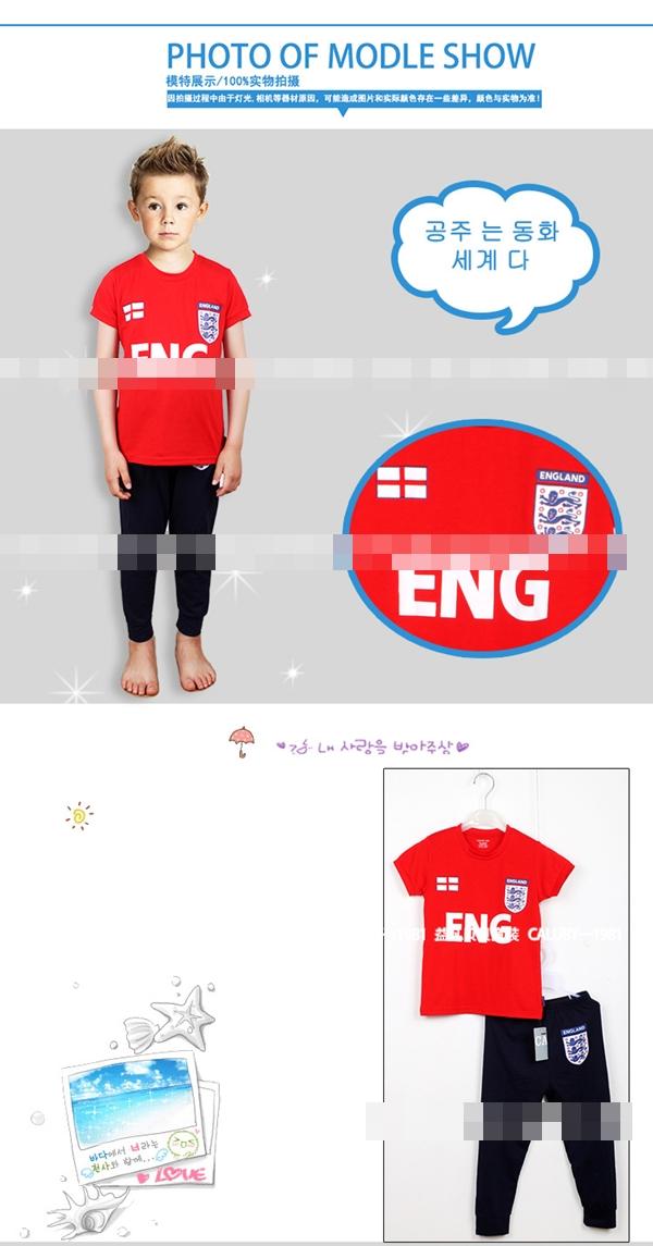 ชุดนอนนักฟุตบอลอังกฤษ สีแดงกรม (6 ตัว/pack)