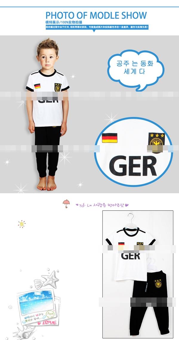 ชุดนอนนักฟุตบอลเยอรมัน สีขาว (6 ตัว/pack)