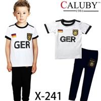 ชุดนอนนักฟุตบอลเยอรมัน-สีขาว-(6-ตัว/pack)