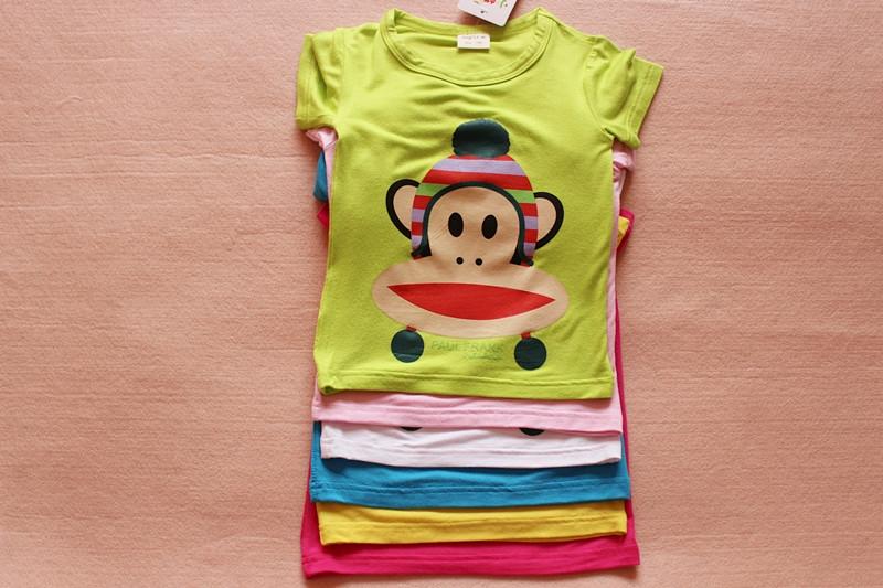 เสื้อยืดแขนสั้น Paul Frank สีชมพู (10 ตัว/pack)