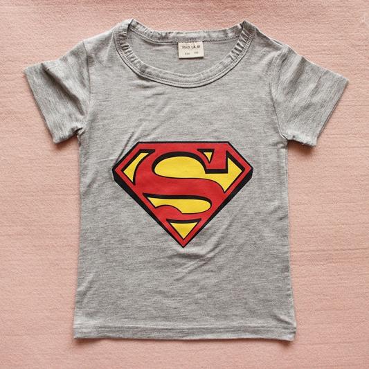 เสื้อยืดแขนสั้น Superman สีเทา (15 ตัว/pack)