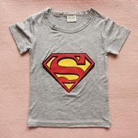 เสื้อยืดแขนสั้น-Superman-สีเทา-(15-ตัว/pack)