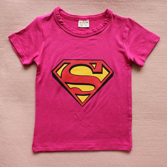 เสื้อยืดแขนสั้น Superman สีบานเย็น (15 ตัว/pack)
