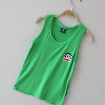 เสื้อกล้าม Paul Frank สีเขียวเข้ม (20 ตัว/pack)