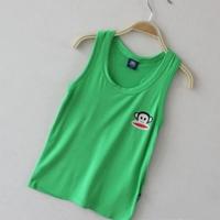 เสื้อกล้าม-Paul-Frank-สีเขียวเข้ม-(20-ตัว/pack)