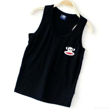เสื้อกล้าม Paul Frank สีดำ (20 ตัว/pack)