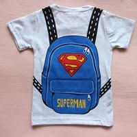 เสื้อยืดคอกลมเป้-Superman-สีเทา-(10-ตัว/pack)