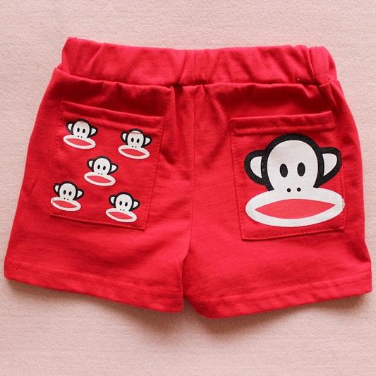 กางเกงขาสั้น Paul Frank สีแดง (10 ตัว/pack)