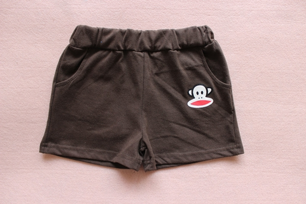 กางเกงขาสั้น Paul Frank สีน้ำตาล (10 ตัว/pack)