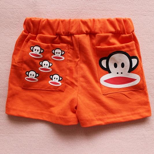 กางเกงขาสั้น Paul Frank สีส้ม(10 ตัว/pack)
