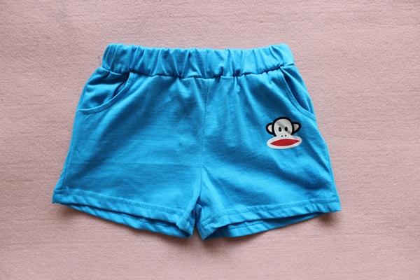 กางเกงขาสั้น Paul Frank สีฟ้า (10 ตัว/pack)